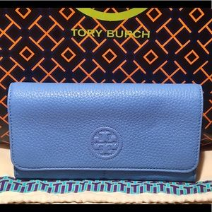 Tory Burch Blue Full Size Continental Wallet
